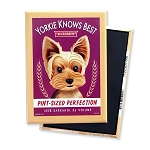 MB-122  Magnet 4-pack - Yorkie Knows Best