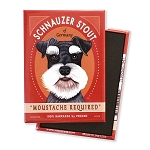MB-123  Magnet 4-pack - Schnauzer Stout