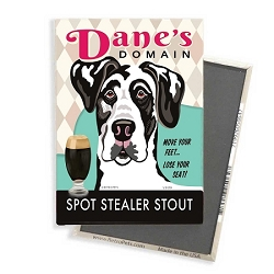 MB-130  Magnet 4-pack - Dane's Domain, Harlequin Great Dane