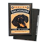 MC-109  Magnet 4-pack - Darling Dachshund