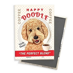 MC-119  Magnet 4-pack - Happy Doodle Coffee