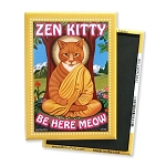MF-108  Magnet 4-pack - Zen Kitty