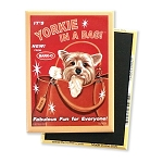 MHP-105  Magnet 4-pack - Yorkie in a Bag