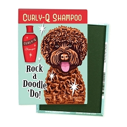 MHP-139  Magnet 4-pack - Rock a Doodle 'Do! Labradoodle, Chocolate