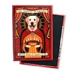 MP-107  Magnet 4-pack - Patron Saint - Yellow Lab Supper Time