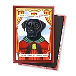 MP-111  Magnet 4-pack - Patron Saint - Black Lab, Tennis Balls