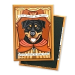 MP-117  Magnet 4-pack - Patron Saint - Rottweiler, Belly Rubs