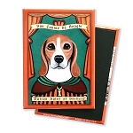 MP-139  Magnet 4-pack - Patron Saint - Beagle, Sniffery