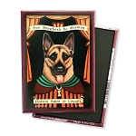 MP-141  Magnet 4-pack - Patron Saint - German Shepherd, Loyalty