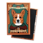 MP-153  Magnet 4-pack - Patron Saint - Corgi, Royalty