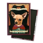 MP-163  Magnet 4-pack - Patron Saint - Chihuahua, Napoleonic Complex