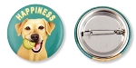 OHP-107 - Buttons - Happiness Yellow Lab 10-pack