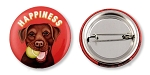 OHP-110 - Buttons - Happiness Chocolate Lab 10-pack