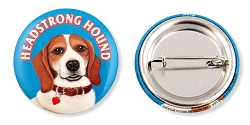 OPB-109 - Buttons - Headstong Beagle 10-pack