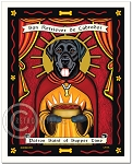 P-108 - 8x10 Art Print - Saint Supper Time - Black Lab