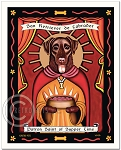 P-109 - 8x10 Art Print - Saint Supper Time - Chocolate Lab
