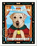 P-110 - 8x10 Art Print - Saint Tennis Balls - Yellow Lab