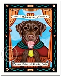 P-112 - 8x10 Art Print - Saint Tennis Balls - Chocolate Lab