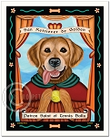 P-114 - 8x10 Art Print - Saint Tennis Balls - Golden Retriever