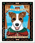 P-115 - 8x10 Art Print - Saint Jack Russell - Perpetual Motion