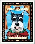 P-122 - 8x10 Art Print - Saint Schnauzer - Cropped Ears