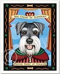 P-123 - 8x10 Art Print - Saint Schnauzer - Natural Ears