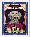 P-131 - 8x10 Art Print - Saint Weimaraner - Green Eyes