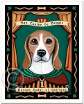 P-139 - 8x10 Art Print - Saint Beagle - Sniffery
