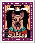 P-141 - 8x10 Art Print - Saint German Shepherd - Loyalty