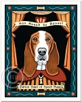 P-143 - 8x10 Art Print - Saint Basset - Speed Bumps