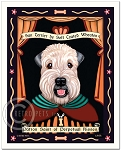 P-147 - 8x10 Art Print - Saint Wheaten - Puppy Cut