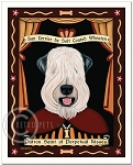 P-148 - 8x10 Art Print - Saint Wheaten - Show Cut