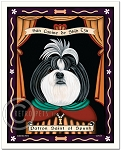 P-149 - 8x10 Art Print - Saint Shih-Tzu - Black & White