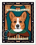 P-153 - 8x10 Art Print - Saint Corgi - Royalty