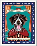 P-165 - 8x10 Art Print - Saint German Shorthaired Pointer