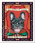 P-171 - 8x10 Art Print - Saint Frenchie - Smiles