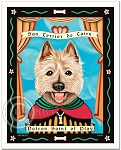 P-177 - 8x10 Art Print - Saint Cairn Terrier - Play