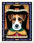 P-185 - 8x10 Art Print - Saint Jack Russell - Hall Monitors