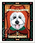 P-189 - 8x10 Art Print - Saint Old English Sheepdog - Clowns