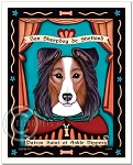 P-191 - 8x10 Art Print - Saint Sheltie - Ankle Nippers