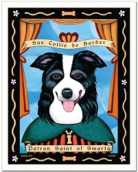 P-199 - 8x10 Art Print - Saint Border Collie - Smarts