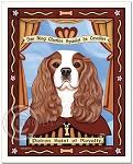 P-201 - 8x10 Art Print - Saint Cavalier - Royalty