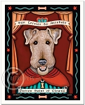 P-207 - 8x10 Art Print - Saint Airedale - Clowns