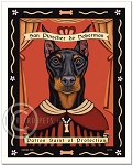 P-219 - 8x10 Art Print - Saint Doberman - Protection