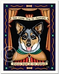 P-231 - 8x10 Art Print - Saint Australian Cattle Dog - Outback