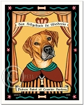 P-237 - 8x10 Art Print - Saint Rhodesian Ridgeback - Counter Surfers
