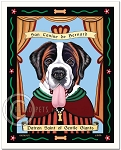 P-238 - 8x10 Art Print - Saint Bernard - Gentle Giants