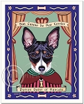 P-241 - 8x10 Art Print - Saint Rat Terrier - Rascals