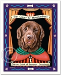 P-245 - 8x10 Art Print - Saint Newfie - Brown - Sweetness