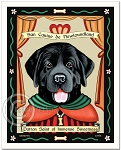 P-246 - 8x10 Art Print - Saint Newfie - Black - Sweetness